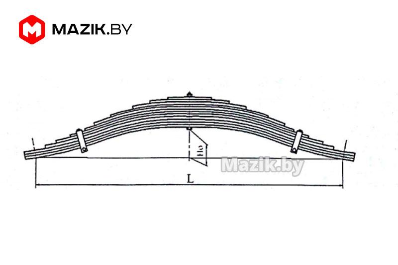 Рессора задняя (1400мм, 18л) балансирная (к/н 12000), МРЗ 1 5516-2912012