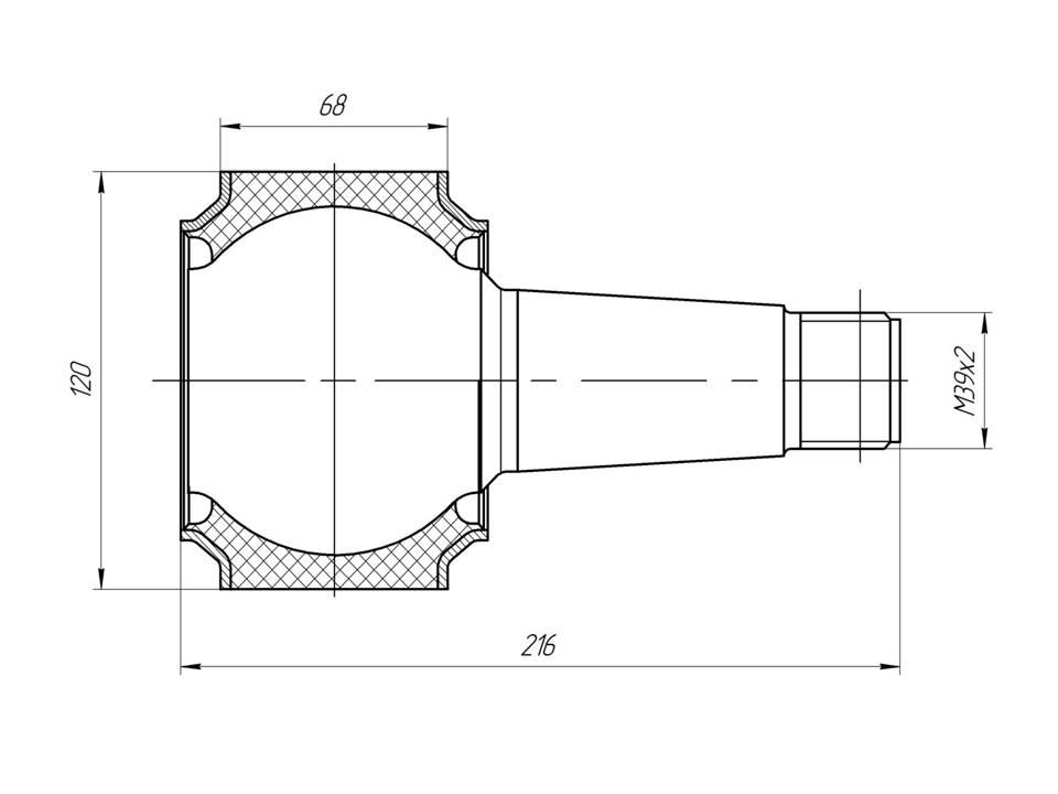 Шарнир МАЗ - втулка реактивной тяги МАЗ 2